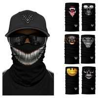 Elegante Venom máscara facial sin costuras Anime Sudadera con capucha mujeres healewear deportes al aire libre Bandana bufanda militar protección Uv cuello
