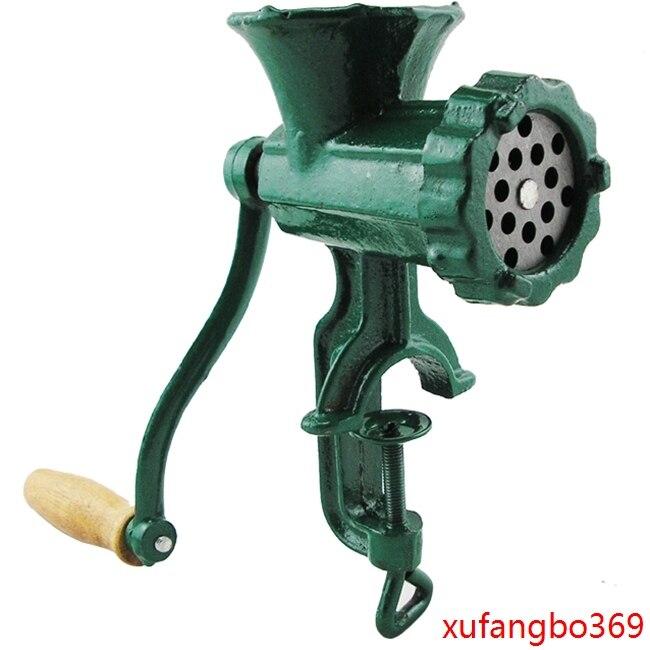 5 cast iron hand operaten grinder manual iron home meat mincer sausage maker machine  broken chicken rack bones web page