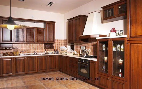 Modular Wooden Kitchen Cabinet(LH-SW004)