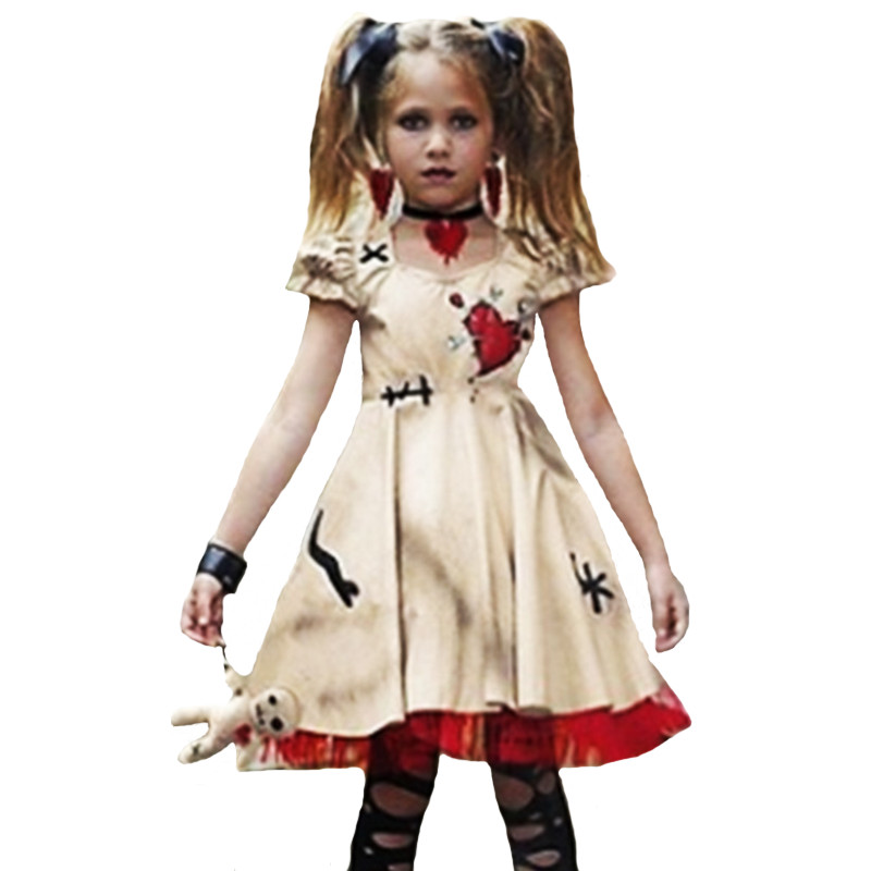 halloween scary Costume for child girl women ghost corpse bride Cosplay Dress Mother and daughter Zombie Day of the Dead Costume