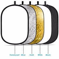 Lightdow 35 X 47 90 X 120cm 5 In 1 Portable Collapsible Light Photography Reflector