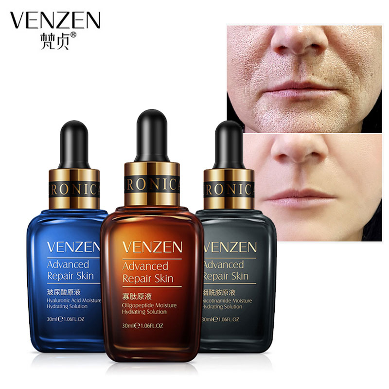 VENZEN Anti Wrinkle Serum Hyaluronic Acid Facial Essence Moisturizing Hydrating Brighten Skin Acne Treatment Whitening Cream