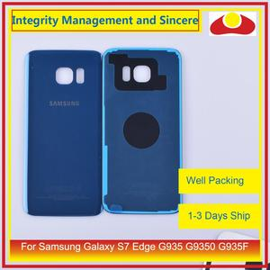 Image 5 - Original For Samsung Galaxy S7 Edge G935 G9350 G935F SM G935F Housing Battery Door Rear Back Glass Cover Case Chassis Shell