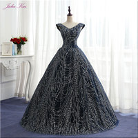 Julia Kui Vintage Sequin V Neck Ball Gown Quinceanera Dresses Floor Length Lace Up Elegant Formal