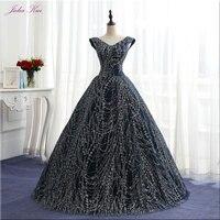 Julia Kui Vintage Sequin V Neck Ball Gown Quinceanera Dresses Floor Length Lace Up Elegant Formal