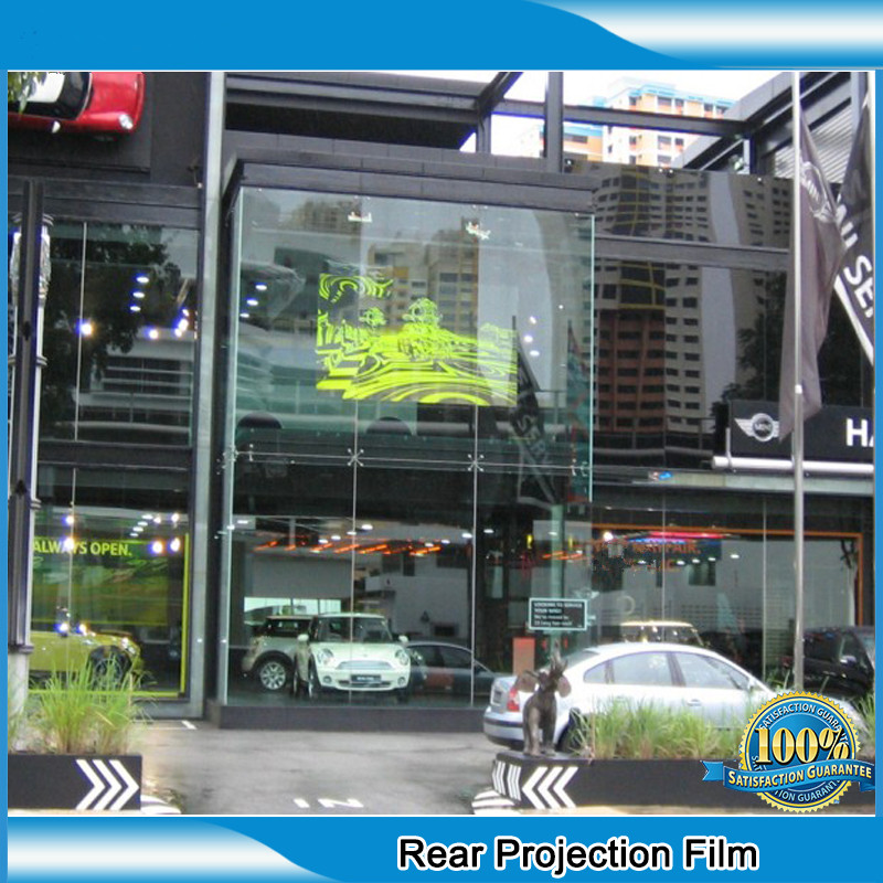 1 piece Transparent Holographic Projection Film Adhesive Rear holographic projection screen car automobile display1.52x0.5m