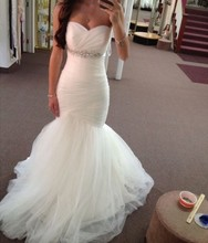 Mermaid Hot Selling Sweetheart Wedding Gown With Beading Bottom Tulle Bridal Dresses robe de mariage