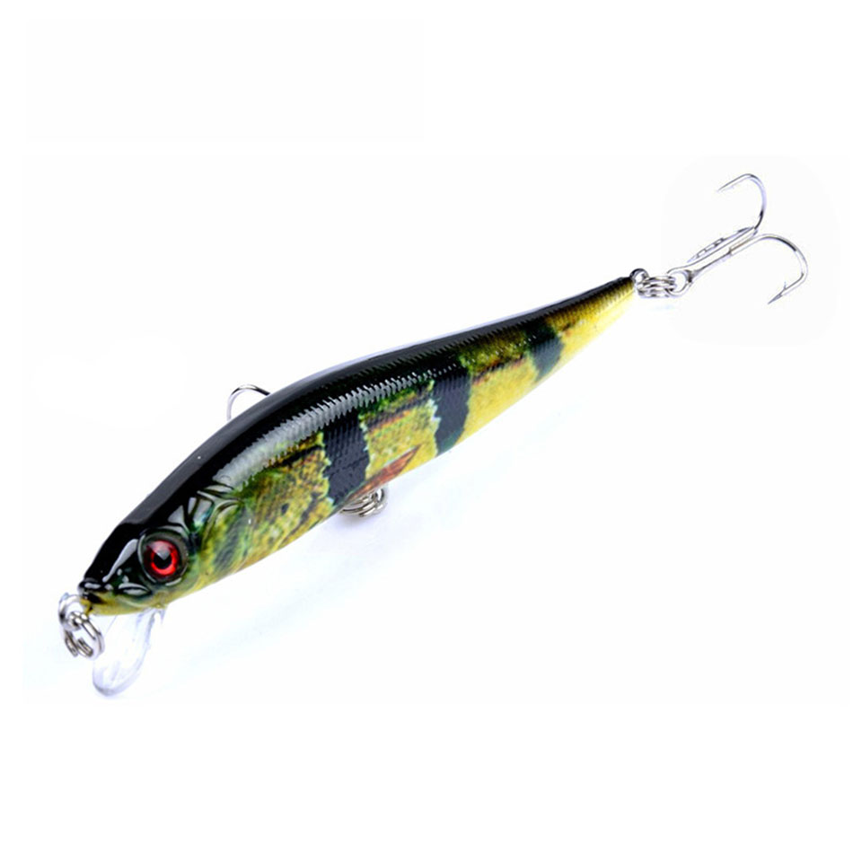 1PCS Hard Minnow Bait 10cm 10g Isca Artificial Hard Bait Pesca lifelike Minnow Fishing lures wobbler crankbait 6# hook 3D eyes 1pcs 9cm 9 1g big wobbler fishing lures sea trolling minnow artificial bait carp peche crankbait pesca jerkbait ye 207