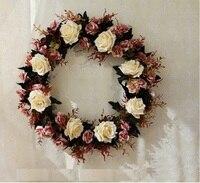 artificial garland silk flower rose door hanging drop wall hangings Household living room flowers art