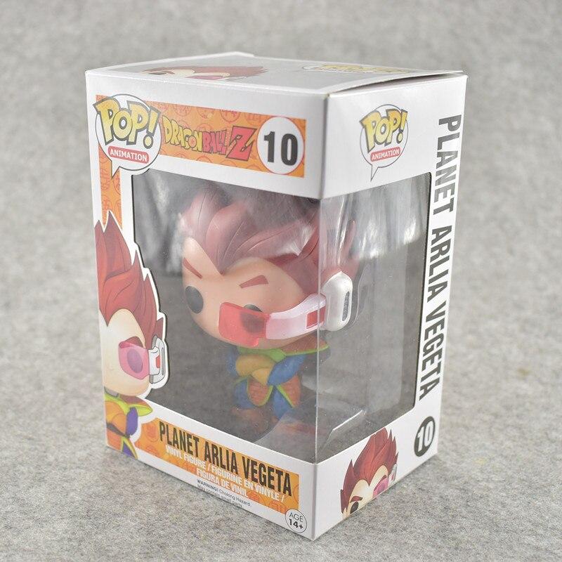 FUNKO POP 10cm Anime Dragon Ball Z POP Super Saiyan VEGETA Red Hair Action Figure PVC Collection Model Doll 1