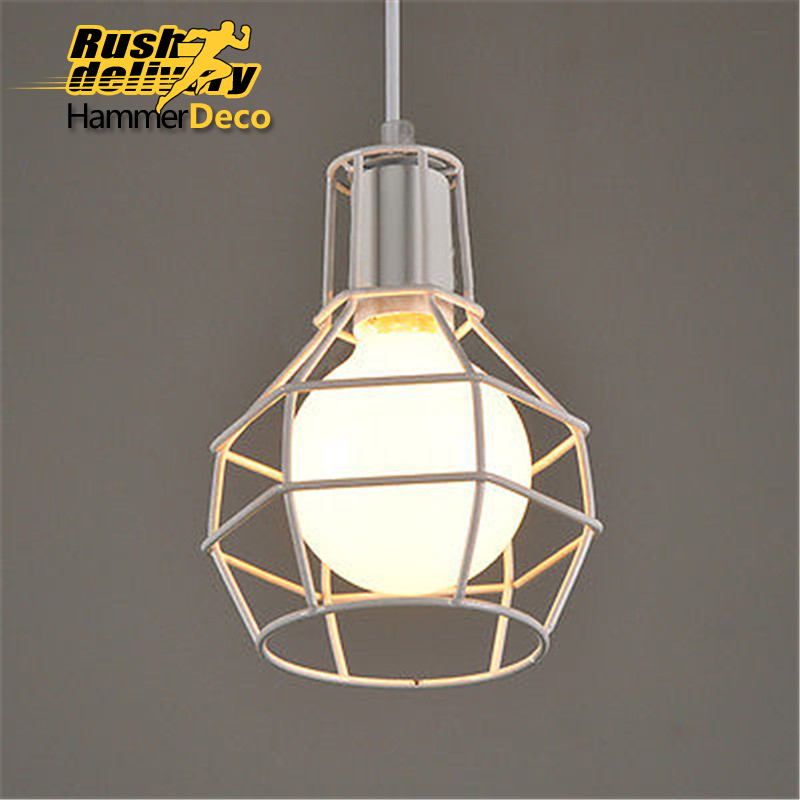Cage type industrial style vintage black pendant light lights ceiling room lighting free shipping lamtop compatible projector lamp 610 346 9607 for plc zm5000cl