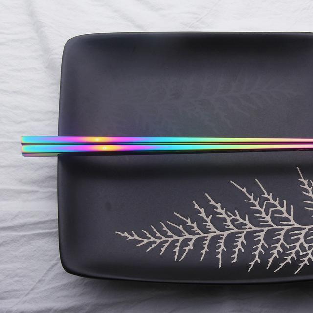 Chinese Japanese Korean Chopsticks Rainbow Length 23cm