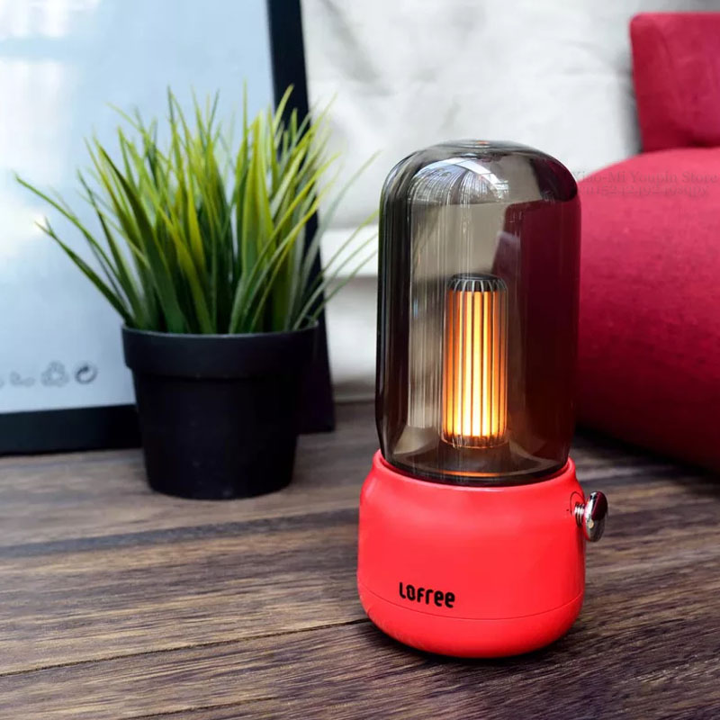 Image 4 - New Xiaomi Mijia Lofree CANDLY Retro Light USB Charging/Charging  Stand Two Light Modes Warm As Ever Warm Surrounding FeelingSmart Remote  Control