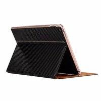 KAKU Fashion Ultra Thin Carbon Fibre Style Smart Cover For IPad 6 Luxury Flip Stand Case