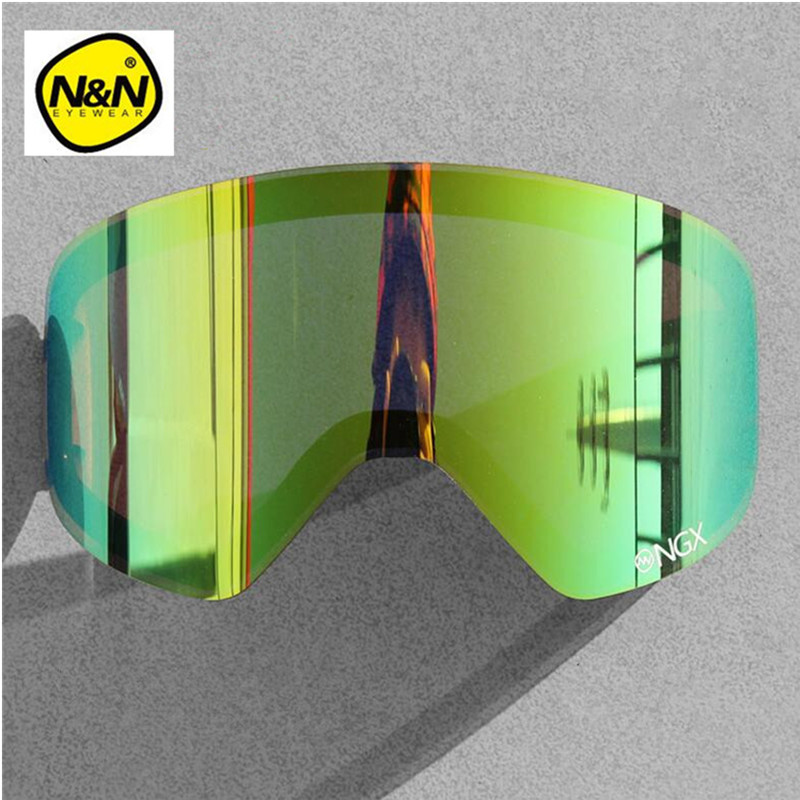 Nandn Ski Goggle Extra Lens Night 100% UV 400 Protection Exchangeable Lens For NG6 High Quality Glasses Lens For Snowboard Clody