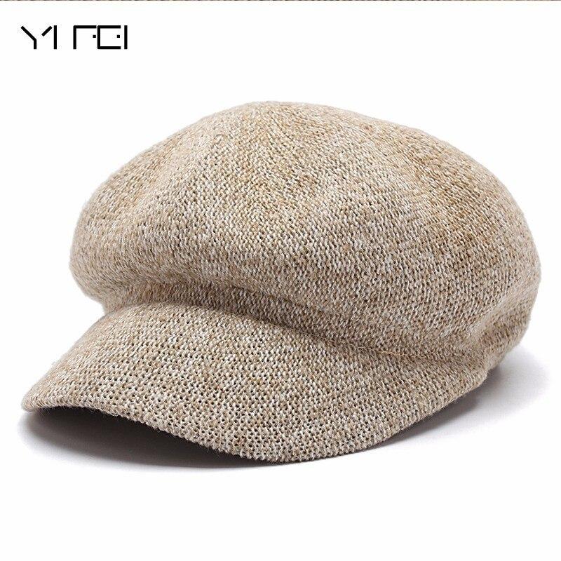 2018 Casquette De Gavroche Béret Femme Homme Casquette Plate Automne Hiver chapeaux Pour Femmes Hommes Bouchon Octogonal Peintre Chapeau Vintage Angleterre artiste