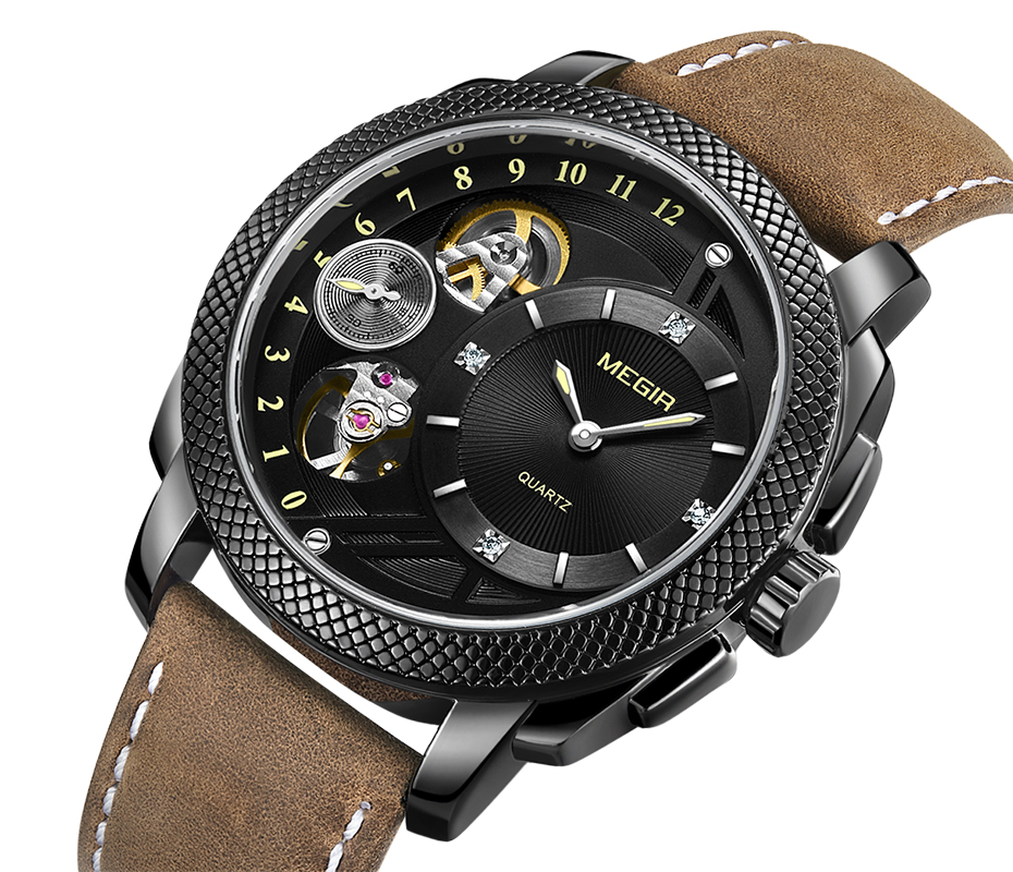 HTB1BWkIX5zxK1Rjy1zkq6yHrVXaI MEGIR Luxury Quartz Watches Stainless Steel Military Wrist Watch
