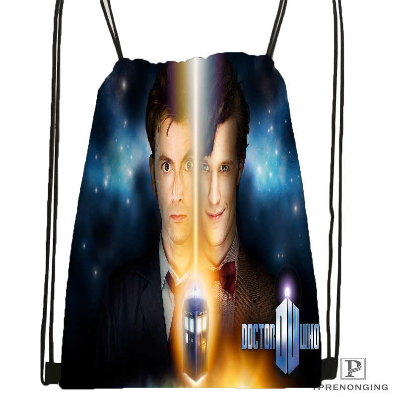 Customdoctor who brokenglassDrawstring Backpack Bag for Man Woman Cute Daypack Kids Satchel Black Back 31x40cm 20180611