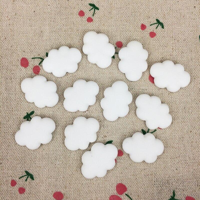10 шт. глина плоская спина, кабошон Kawaii DIY Глина Ремесло Украшение белое облако Скрапбукинг Украшение: 17*25 мм
