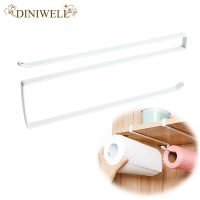 Japan Style Cabinet Free Punched Roll Paper Metal Rack Kitchen Napkins Hanger Kitchen Towel Rag Holder