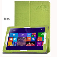 For CHUWI Hi12 12 Tablet Hi 12 Folio Stand Cover Flower Printing Pattern PU Protective Leather