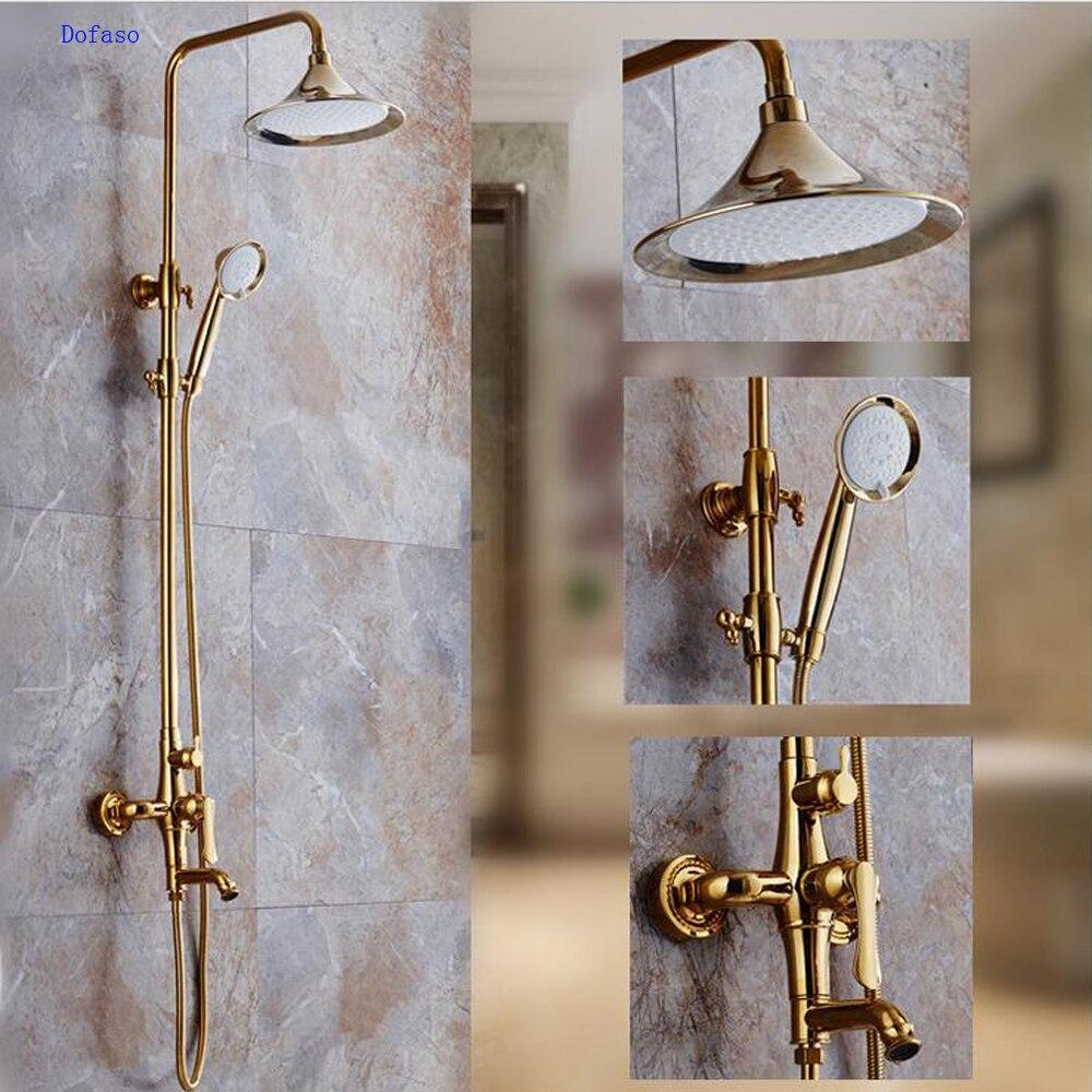 Dofaso Golden shower faucet luxury rose gold bathroom rain