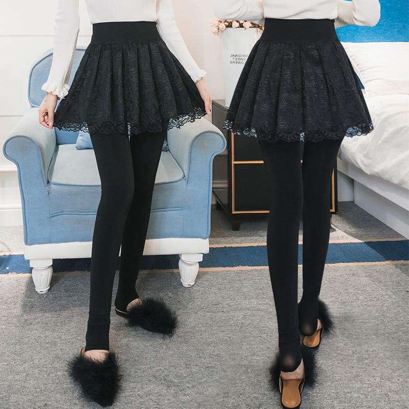 Winter Plus Cashmere Faux   Leggings   Fleece Lady Warm Skinny Pants Skirt + Long Trousers Women Elastic Thicken Slim   Leggings