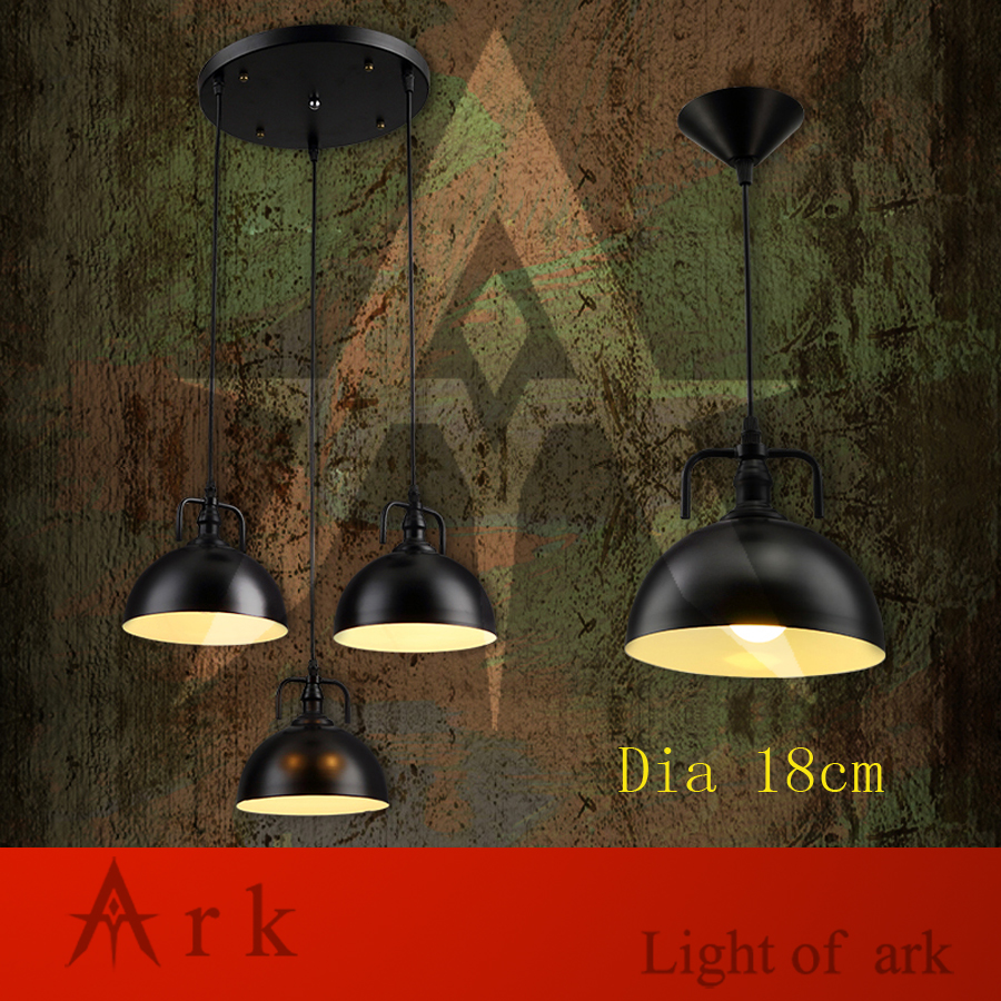 ARK LIGHT Loft Vintage dia 18cm colorful iron Personalized Bar Lighting Industrial Vintage pendant lamp for coffee house