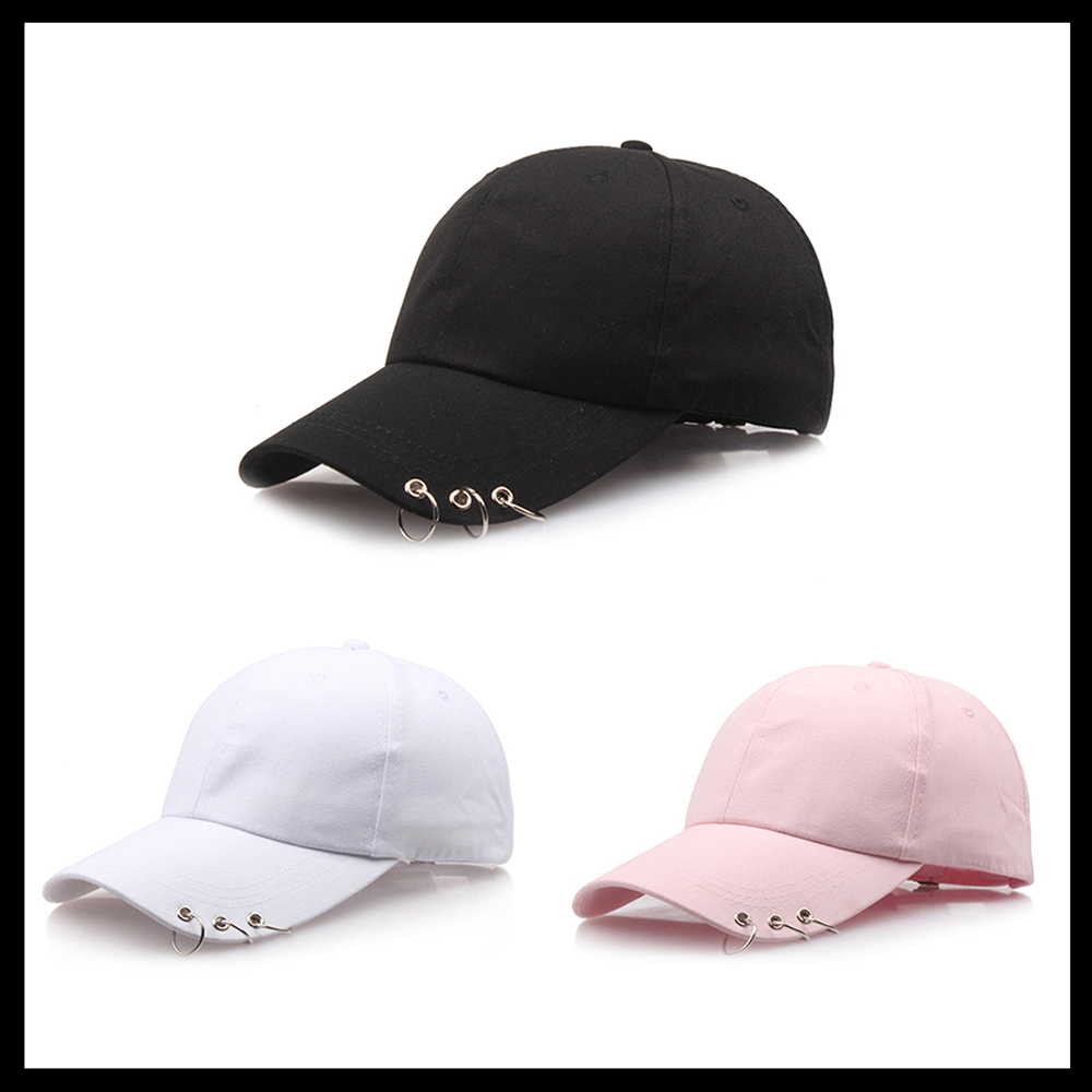 Fashion Adjustable Ring Baseball Cap Wild Couple Hats Spring Summer for Women Unisex Baseball Caps 3 Color 2018 New baseball cap