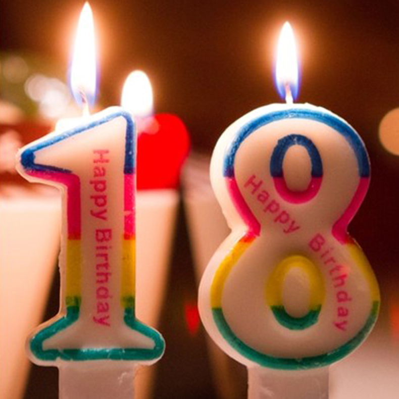 Children Birthday Candles Number Collection Creative Color Digital Party Supplies Smokeless Cake Candle