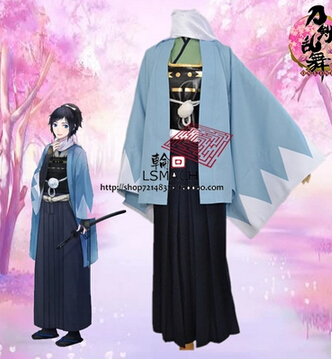 Free shipping Cosonsen Webgame Touken Ranbu Yamatonokami Yasusada Cosplay Costume