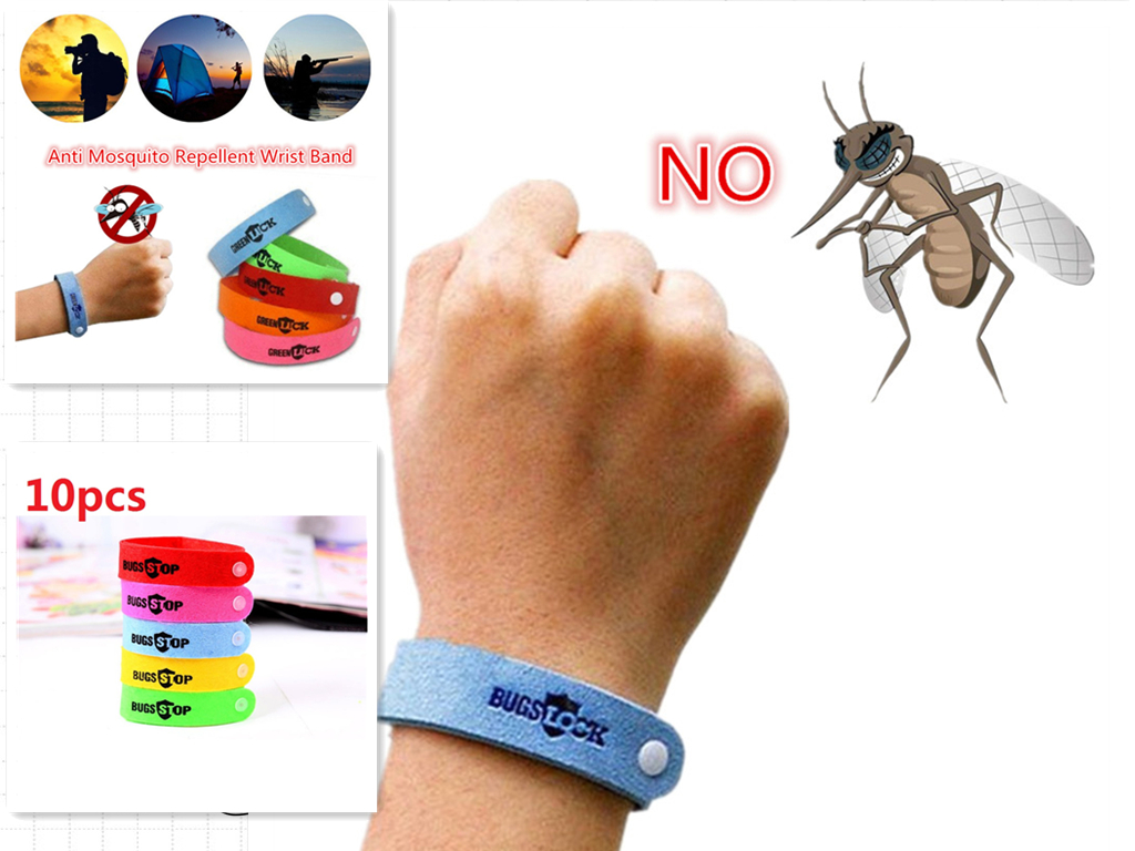 10Pcs  Eco Friendly Anti Mosquito Wristband Mosquito Insect Bugs Repellent Bracelet Safe For Children Home Outdoor Pest Reject10Pcs  Eco Friendly Anti Mosquito Wristband Mosquito Insect Bugs Repellent Bracelet Safe For Children Home Outdoor Pest Reject