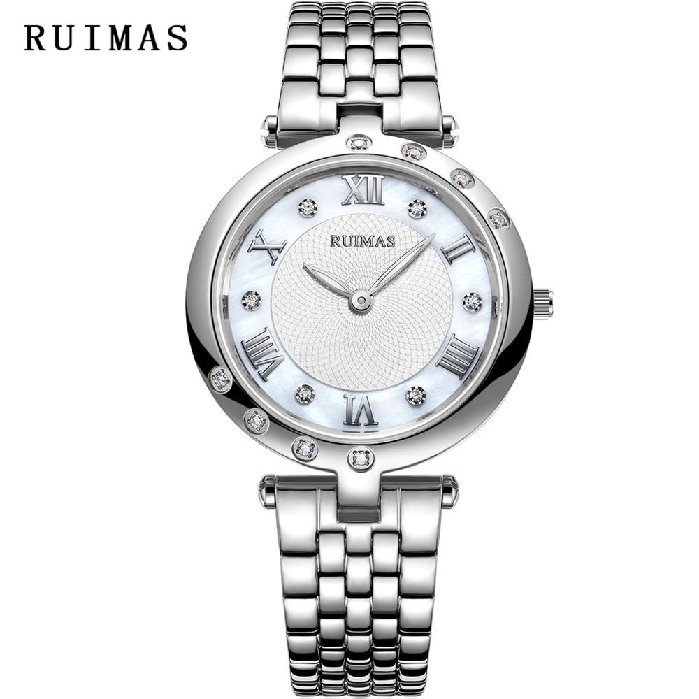 Reloj de oro rosa de las mujeres RUIMAS Relojes de cuarzo de moda - Relojes para mujeres