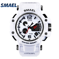 SMAEL Brand Men S Outdoor Sports Watch LED Digital 30M Waterproof Casual Watch S Shock Male