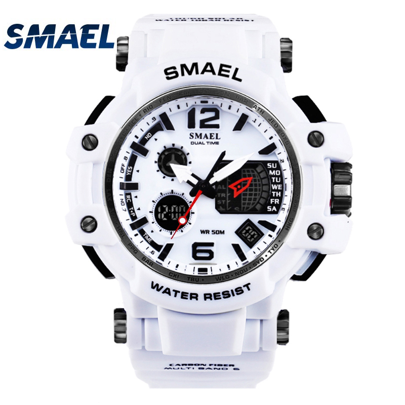 SMAEL brand Men's outdoor sports watch LED digital 30M waterproof Casual watch S-Shock male clock relogio masculin boy men gifts я immersive digital art 2018 02 10t19 30