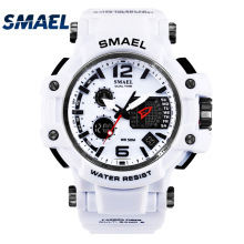 SMAEL brand Men's outdoor sports watch LED digital 30M waterproof Casual watch S-Shock male clock relogio masculin boy men gifts