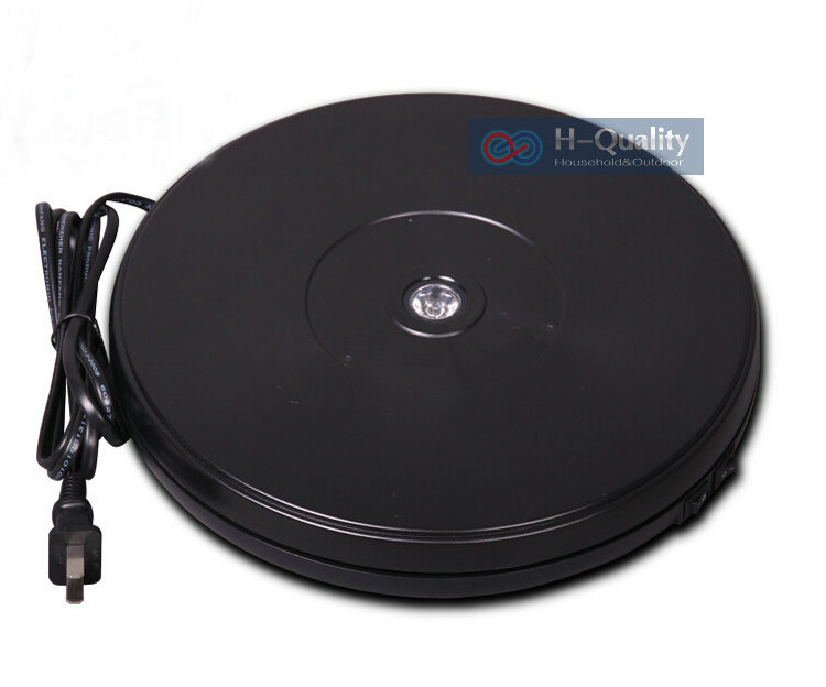 250X40MM Electric Rotary Swivel Turntable Product Display Stand Base With LED Light 40 Secs Constant Speed Hold 15KGS 2 Color