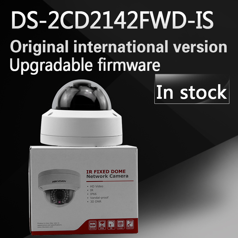 Free shipping In stock English Version IP Camera 4MP Mini Dome Camera POE IP CCTV Camera DS-2CD2142FWD-IS hikvision ds 2de7230iw ae english version 2mp 1080p ip camera ptz camera 4 3mm 129mm 30x zoom support ezviz ip66 outdoor poe