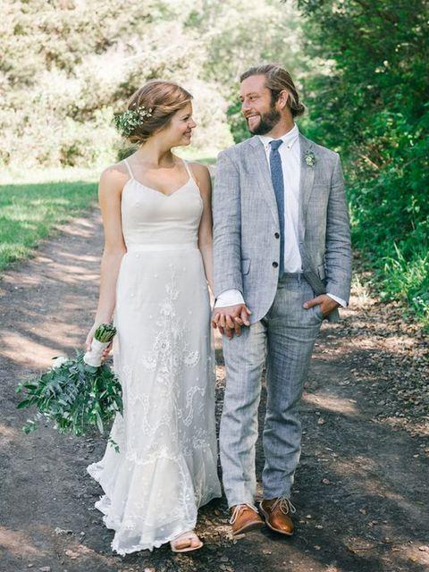 2017 Latest Coat Pant Designs Grey Linen Wedding Suits for Men ...