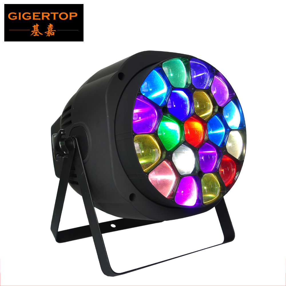 TIPTOP Stage Light TP-P82 Amazing B Eye Par ZOOM and Rotation Big Bee Eye 19X15W 4in1 RGBW Cree DMX512 Sound, Master/slave stackable 4in1 flightcase pack 350w big bee eye led par light zoom rotation colorful stage par cans plastic cover lcd display