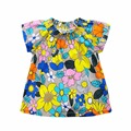 Mais novo Estilo de Verão meninas t camisas de Manga Curta tops t camisas meninas flor de algodão moda o-pescoço crianças t-shirt roupas para crianças