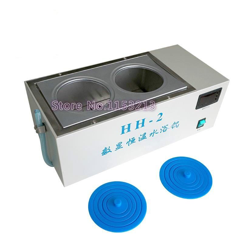 AOHUA marca hh 2 termostato digital agua baño 2 agujeros baño olla Digital temperatura constante tanque agua eléctrica baño de la caldera-in Dispositivos termostáticos de laboratorio from Suministros de oficina y escuela    1