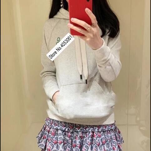 Coton Flocage Grey Pull Avant Top Épaissir Capuche Black Lettre Sweatershirt Impression Contraste Hoodie femmes Élégant Nouveau 2019 À Faded light Polaire tshQrdC