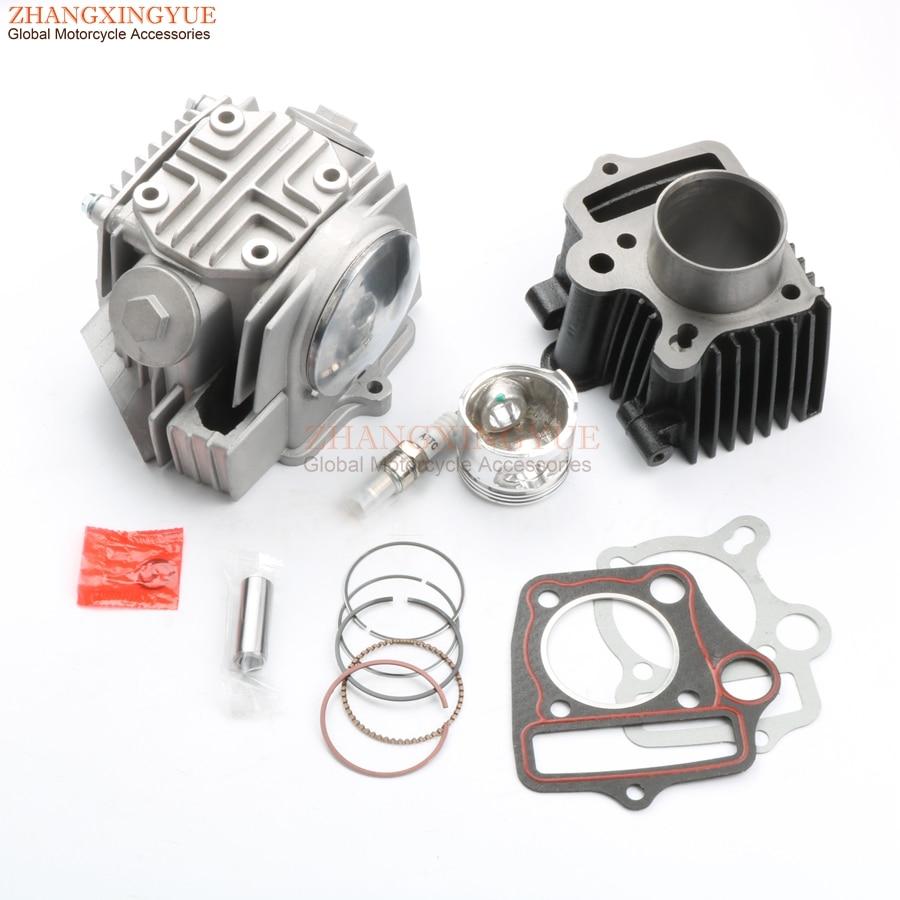 70cc Cylinder Kit & Cylinder Head Kit & Piston Kit & Cylinder Gasket & A7TC For HONDA ATV C70 ATC70 CT70 TRX70 CRF70 XR70 47mm