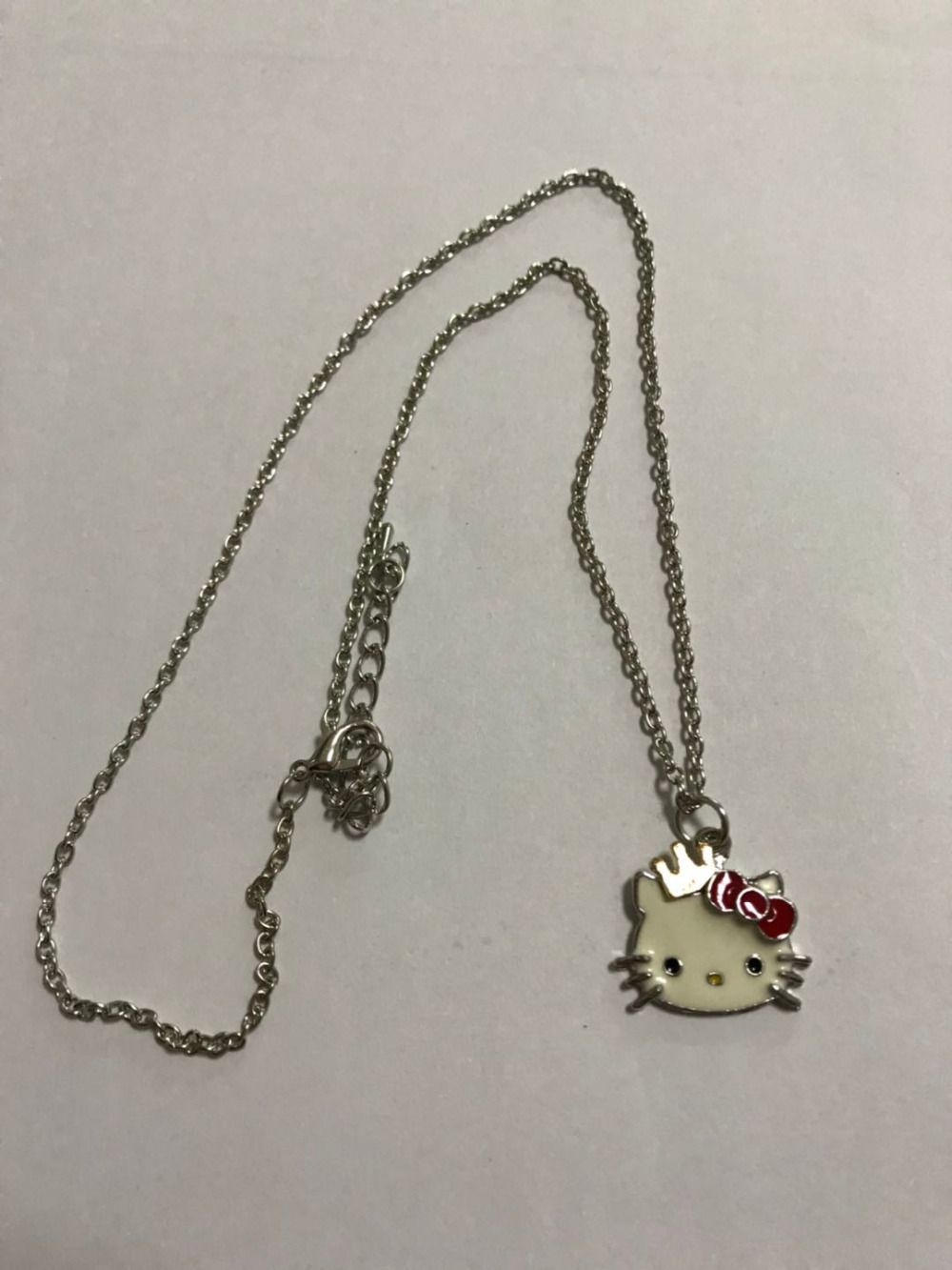 Hello Kitty Pendant ALP Siywina 2018 Fashion Hello Kitty Pendant Necklaces Alloy Lovely Hello Kitty  With Crown Bow Mascot Costume Women Jewelry gift