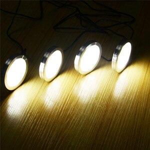 Image 5 - AIBOO LED Unter Schrank Beleuchtung 3/4/6 Lampen Puck Lichter mit für Unter Zähler, Regal Möbel Schrank Dekoration schrank