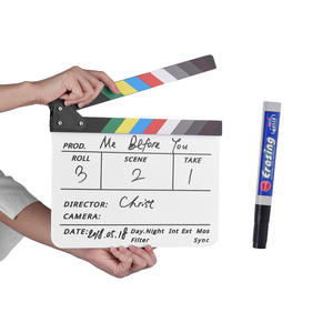Andoer Tv-Film Eraser Clapper-Board Slate Action-Scene Movie Director Cut with Marker-Pen