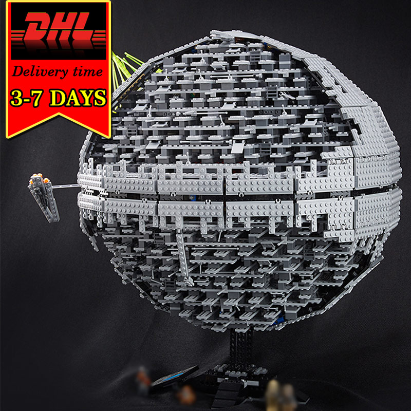 DHL LEPIN 05026 Death Building Blocks Set Star Series Compatible Bricks Model Kit Military War Kids Classic Toy Children 3449Pcs clone 10188 dhl lepin 05035 3803pcs star model death star model building kit set blocks bricks children toy gift
