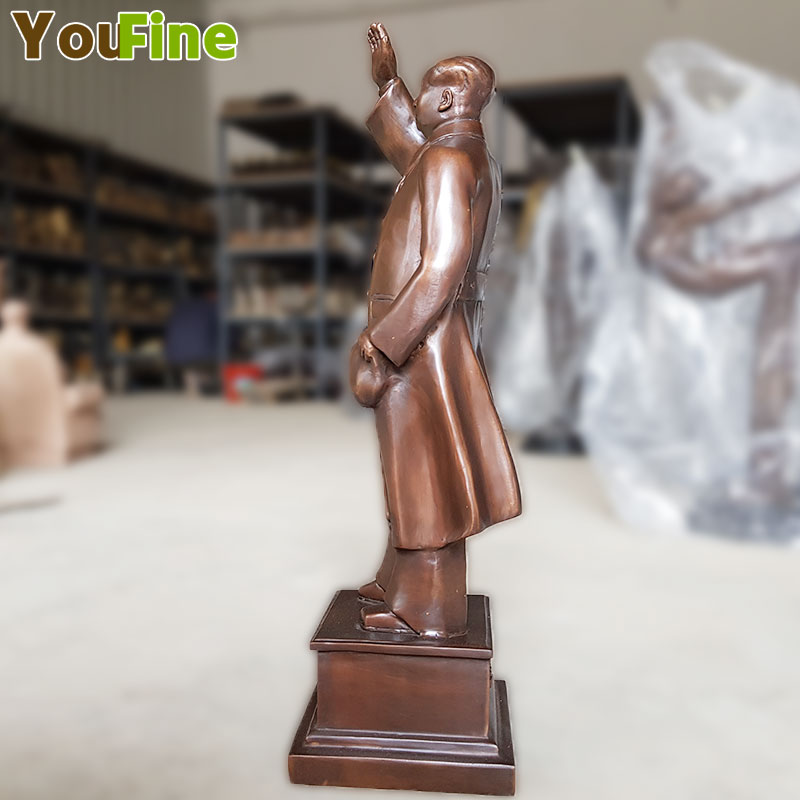 Details about 24 Huge China Bronze Great Leader Stand Mao Ze Dong Chairman Sculpture Statue in Statues Sculptures from Home Garden