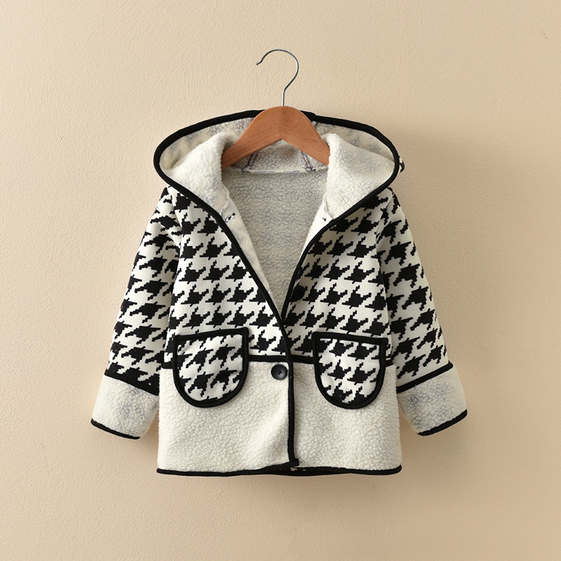 New Plaid Jackets Baby Girl Coat Child Cotton Winter Trench Casual Hooded Jacket Girls Keeping Warm Outerwear Grid Blazer Coats боксеры emporio armani трусы в стиле шортики